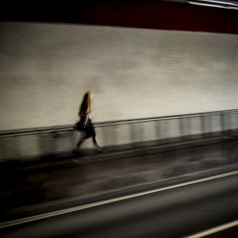 Motion blur in subway