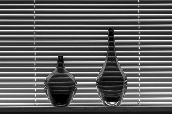 Vases and blind